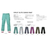 17 BURTON GIRL'S ELITE CARGO PANT 2カラー スノーボード 子供用ウ...
