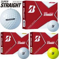 2021年モデル日本正規品 ブリヂストンゴルフ スーパーストレート ゴルフボール 1ダース(12個入り) 「BRIDGESTONE GOLF SUPER STRAIGHT」あすつく対応