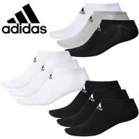 【1セットまでメール便送料無料】 アディダス アンクル ソックス 靴下 3足組 3Pメンズ ユニセックス DMK57 adidas