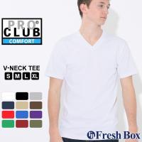 PRO CLUB Short Sleeve V-Neck T-shirt Comfort アメリカを...