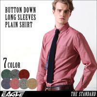 オックスフォードシャツ メンズ 長袖 ボタンダウンシャツ 長袖 メンズ 大きいサイズ メンズ フランネルシャツ ネルシャツ EAGLE THE STANDARD [日本規格]