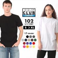 PRO CLUB Short Sleeve Crew Neck T-shirt Comfort アメ...