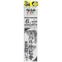 メーカー : ハヤブサ HAYABUSA 商品名 : メバルサビキ サバ皮ミックス 3枚セット 胴付...