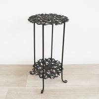 プラントスタンド 花台 ランプテーブル アンティーク調 アイアン 鉢台 花瓶台 置き台 ガーデンスタンド 玄関 インテリア