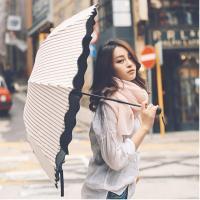 ボーダー柄がさわやかな夏にぴったりの日傘です。  ■商品説明 サイズ:親骨55cm×8本骨<b...