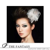 コサージュ 白 コサージュ 蘭  髪飾り 2way ヘッドドレス fh19158we