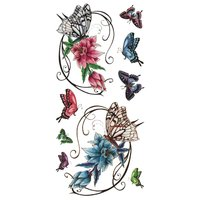 (ファンタジー) TheFantasy タトゥーシール 蝶と花 ymx262 【レギュラー】