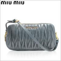 ポイントキャンペーン中! ブランド名:MIUMIU/ミュウミュウ 商品:ポーチ 品番:5zh010-...