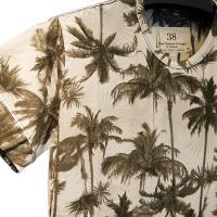 フォーシーズンズガレージ Four Seasons Garage ヤシの木柄クルーネックTシャツ 通常販売価格:7,452円
