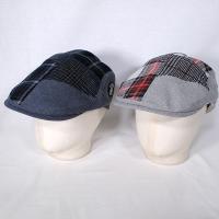 シナコバ SINACOVA メンズ パッチワークチェック柄ハンチング帽 2019秋冬新作 通常販売価格:15120円