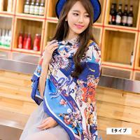 綿100%の大判のスカーフが新入荷!6種類の柄がとても上品な大判スカーフです。 130センチ×130...