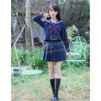 ◆セット内容:長袖シャツ+スカート+ネクタイ+靴下  ◆サイズ:CM   S   着丈44  肩幅3...