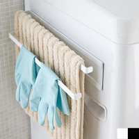 洗濯機横マグネットタオルハンガー 2段