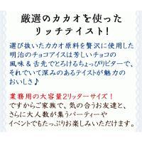 アイスクリーム 業務用 明治 こいあじビターチョコ(2リットル)|fbcreate|04
