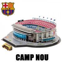 スペイン、リーガ・エスパニョーラの名門FCバルセロナのホームスタジアム「カンプ・ノウ」の立体パズル。...