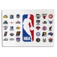アメリカ合衆国のプロバスケットボールリーグNBAのオフィシャル下敷き。  NBA全チームのエンブレム...