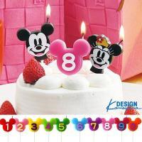 特別なケーキを更に彩るディズニーナンバーキャンドルが登場♪ミッキーのシルエットに数字がプリントされて...