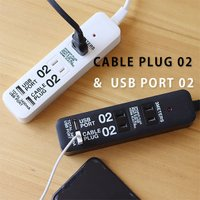 この延長コード、AC電源の差込み口だけでなくUSBポートも付いているスグレモノ!携帯電話やMP3など...
