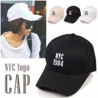 人気の刺繍入りベースボールキャップ♪「NYC 1984」のロゴがポイント!!後頭部のベルトでサイズ調...