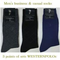 人気のメンズWESTERNPOLOの3点セットのソックスです!靴下  紳士ビジネス用やカジュアルでも...