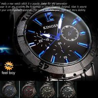 ブラックメタル&マットベゼル腕時計 メンズウォッチです。 重厚感もあって、遊び心も忘れない、...