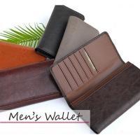レザータイプの二つ折り長財布です!札入れメンズウォレットで薄くてもたっぷり収納♪  ◆縦:約9.0c...