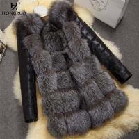 綺麗なフェイクファーコート、ボリュームたっぷりのフェイクファーを使用しているから、とても軽くて暖かく...