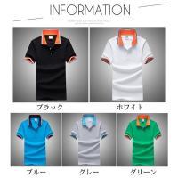 POLOシャツ メンズ 半袖ポロシャツ 無地 ボタンダウン ゴルフ ポロシャツ ビジネス 紳士服 秋夏 父の日 ギフト