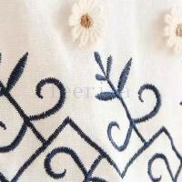 ワンピース リネンワンピース 綿麻ワンピース 刺繍 ナチュラルワンピース Aライン 森ガール ワンピース ワンピ 春夏 レディース