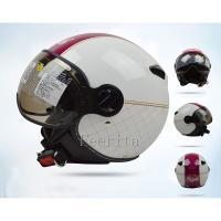 ジェットヘルメット オープンフェイス シールド付 半帽 メンズ レディース ハーフ バイク 安全規格 ヘルメット 男女兼用 バイク用品