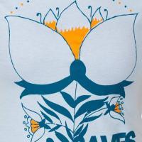 セイヴスザデイ Saves The Day レディース トップス Tシャツ Flower Light Blue