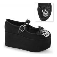 デモニア Demonia レディース シューズ・靴 パンプス Click 02-3 Mary Jane Black Canvas
