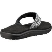 テバ レディース ビーチサンダル シューズ・靴 Voya Flip Flop Companera Black/White Textile