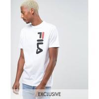 【残り1点!】【サイズ:S】フィラ Fila Vintage メンズ トップス Tシャツ Fila Black T-Shirt With Large Logo Exclusive To ASOS