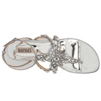 バッジェリー ミシュカ レディース サンダル・ミュール シューズ・靴 Hampden Silver Metallic Suede