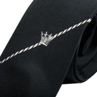 ★SALE 大特価★【BOYCOTT】ボイコット クラウン刺繍デザインシルクネクタイ 黒『15/11/3』171115(送料無料)