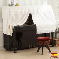 !メーカー直送品です 注意! 商品について:幅広レースを贅沢にあしらったアップライトピアノ用のハーフ...