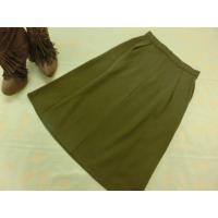 定価¥5,990 タグ付き未使用品 コエ KOE ひざ丈 ポンチデザインスカート M カーキ