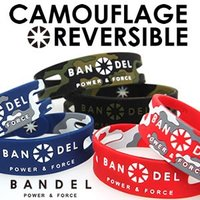 BANDEL ブレスレット カモフラージュリバーシブルは、フロントに迷彩柄、バックにはスタンダードデ...