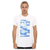 アディダスオリジナルス adidas Originals Cloud Tongue Label Tee White Multicolor Tシャツ 白 x マルチカラー