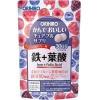 「オリヒロ」 かんでおいしいチュアブルサプリ 鉄 60g (120粒/1粒500mg) (栄養機能食品) 「健康食品」