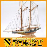 モデルシップ 30 ブルーノーズ Bluenose 帆船模型 塗料付き あおぞら 夏休み 工作 木製...