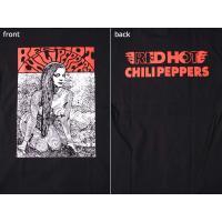 (W) レッドホットチリペッパーズ RED HOT CHILI PEPPERS (レッチリ) 5 BLK S/S バンドTシャツ ロックTシャツ