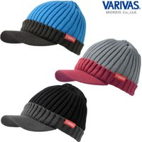 バリバス ニットバイザーキャップ VAC-53 (防寒 帽子) ■素材:アクリル100% ≪バリバス...