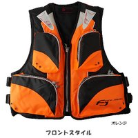 ライフジャケット FV-6110 笛付き オレンジ×ブラック (フローティングベスト 大人用) ■表...