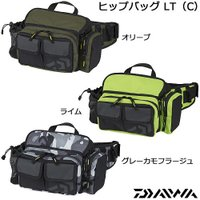 ヒップバッグLT オリーブ(C) ■外寸(縦×横×高)(cm):約14×30×19 ≪ダイワ バッグ...
