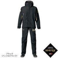 ダイワ ゴアテックス プロダクト コンビアップレインスーツ ブラック DR-1807 S〜XL ■表...