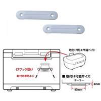 CPフック受け ●エサ箱などの小物類が掛けられるネジ固定式ベース台。2セット入り。 ●取付け対応適合...