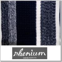ハイダウエイ HIDEAWAYS rhenium レニアム 編地切替クルーセーター 7565-6001-92