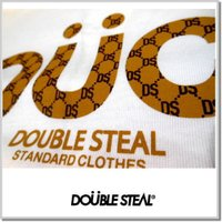 DOUBLE STEAL ダブルスティール DOUCCIプリント度詰め天竺Tee-WHITE